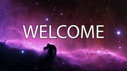 Nebula welcome 16x9 PowerPoint image
