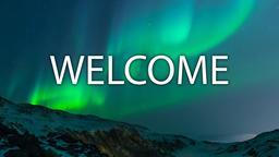 Aurora Borealis Over Mountains welcome 16x9 PowerPoint image