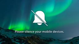 Aurora Borealis Over Mountains phones 16x9 PowerPoint image