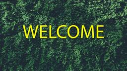 Bush welcome 16x9 PowerPoint image