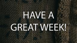 Burlap have a great week! 16x9 PowerPoint image