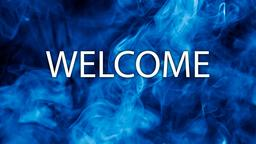 Blue Smoke welcome 16x9 PowerPoint image