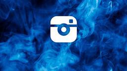 Blue Smoke instagram 16x9 PowerPoint image