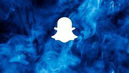 Blue Smoke snapchat 16x9 PowerPoint image