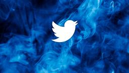 Blue Smoke twitter 16x9 PowerPoint image