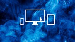 Blue Smoke website 16x9 PowerPoint image