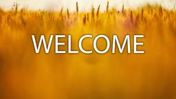 Wheat Field welcome 16x9 PowerPoint image
