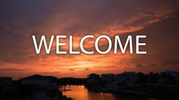 Sunset welcome 16x9 PowerPoint image