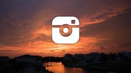 Sunset instagram 16x9 PowerPoint image