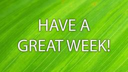 Leaf have a great week! 16x9 PowerPoint image