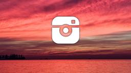Sunset Over Lake instagram 16x9 PowerPoint image