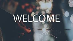 Sparkler welcome 16x9 PowerPoint image