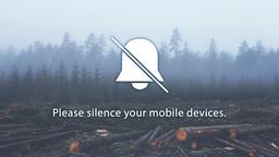 Wood Pile phones 16x9 PowerPoint image