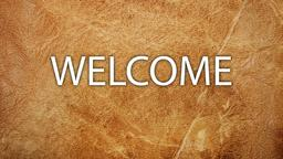 Worn Leather welcome 16x9 PowerPoint image