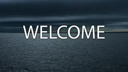 Stormy Beach welcome 16x9 PowerPoint image