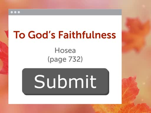 Submit to God's Faithfulness