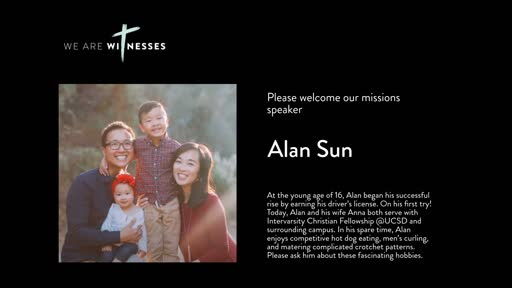 Missions Month 2019 - We Are Witnesses