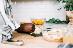 Woman Preparing the Thanksgiving Stuffing  image 2