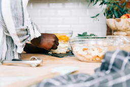 Woman Preparing the Thanksgiving Stuffing  image 3