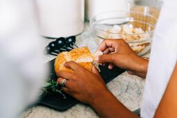 Woman Making Thanksgiving Stuffing  image 1