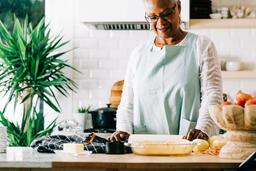 Woman Baking Apple Pie  image 1