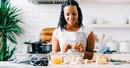 Woman Making Stuffing in Kitchen  image 2