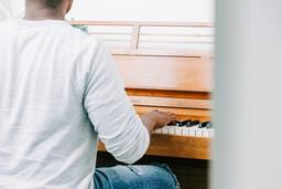 Man Playing Piano  image 1