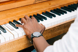 Man's Hand on Keys of Piano  image 3