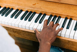 Man's Hand on Keys of Piano  image 4