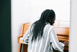 Woman Playing Piano  image 5