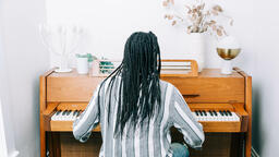 Woman Playing Piano  image 3