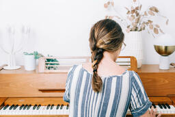 Woman Playing Piano  image 1