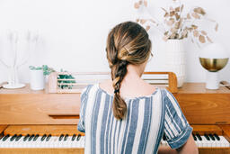 Woman Playing Piano  image 3