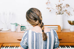 Woman Playing Piano  image 2