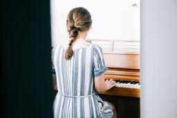 Woman Playing Piano  image 2