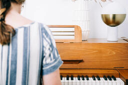 Woman Playing Piano  image 1