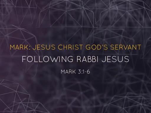 """Following Rabbi Jesus"""