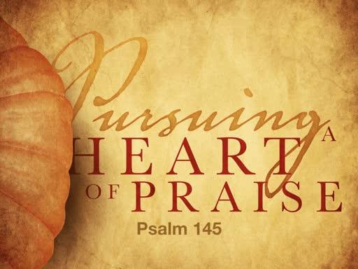 Pursuing a Heart of Praise