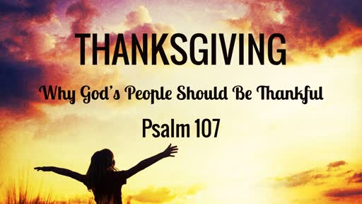 Why God's People Should be Thankful