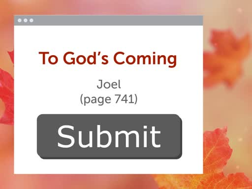 Submit to God's Coming