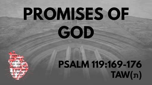 Promises Of God: Psalm 119:169-176 Taw (ת)