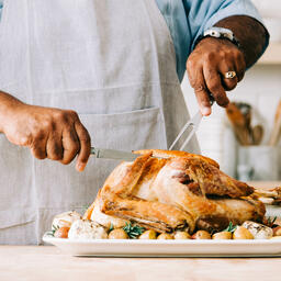 Man Carving the Thanksgiving Turkey  image 2