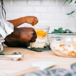 Woman Preparing the Thanksgiving Stuffing  image 4
