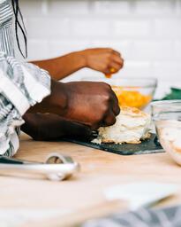 Woman Preparing the Thanksgiving Stuffing  image 5