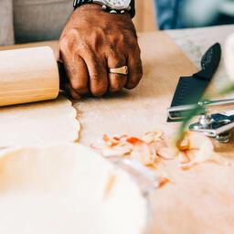 Man Baking Apple Pie  image 4