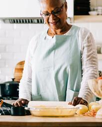 Woman Baking Apple Pie  image 2