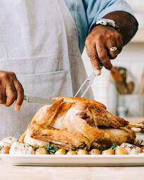 Man Carving the Thanksgiving Turkey  image 3