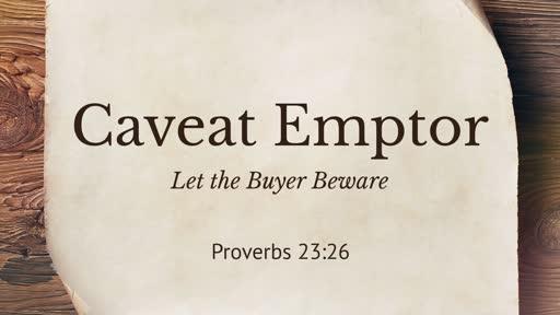 436 - Caveat Emptor/Buyer Beware