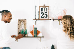 Married Couple Decorating for Christmas  image 4