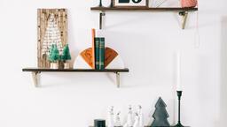 Christmas Decor on Floating Shelves  image 1